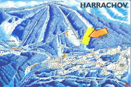 Sjezdovka ČERVENÁ II. spodní část Harrachov